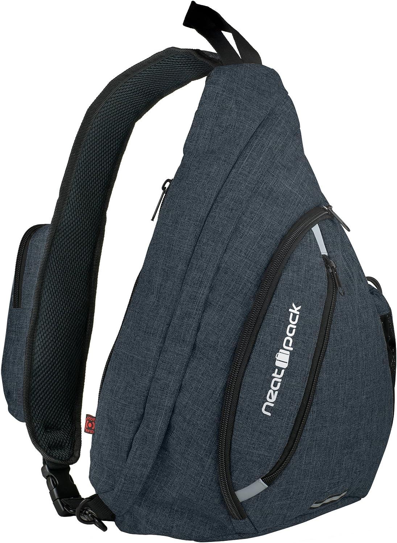 Versatile Canvas Sling Bag / Travel Backpack   Wear Over Shoulder or Crossbody (Black)