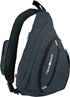 Versatile Canvas Sling Bag/Urban Travel Backpack, Black | Wear Over Shoulder or Crossbody for Men & Women, by NeatPack