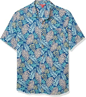 UNIONBAY Mens Y13189U Short Sleeve Rayon Button-up Woven Shirt Shirt