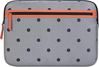 Targus Arts Edition for 15.6-Inch Laptop Protective Sleeve - Polka Dot, Gray/Salmon (TSS999GL)