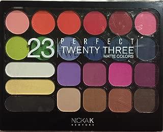 NICKA K Perfect TWENTY THREE 23 MATTE COLORS Eye Shadow & Blush Set (AP 035)
