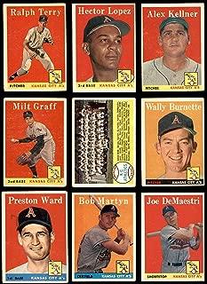 1958 Topps Kansas City Athletics (A's) Near Team Set Kansas City Athletics (Baseball Set) Dean's Cards 2.5 - GD+ Athletics