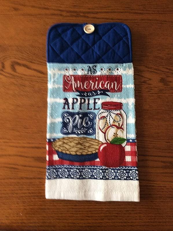 Americana As American As Apple Pie Hanging Dish Towel