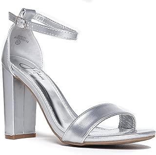 Best silver block heels wide fit Reviews