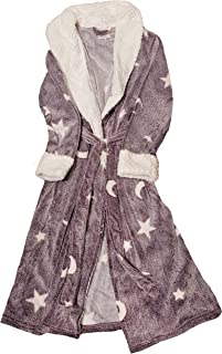 Stars & Moons Purple Pearl Superminky Fleece Sleep Robe