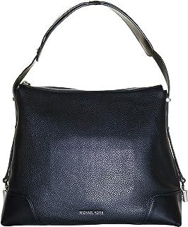 MICHAEL Michael Kors Crosby Large Pebbled Leather Shoulder Bag, Black