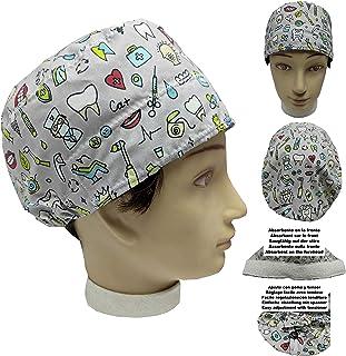 Cappellino da dentista ODONTOIATRIA INTRUMENTALE per Capelli Corti UNISEX con assorbente sul lato anteriore e tenditore re...