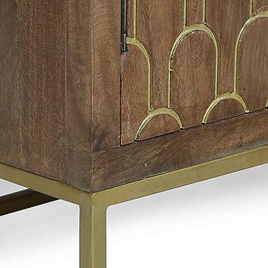 Christopher Knight Home Sevier Contemporary Wooden 2 Door Cabinet, Walnut