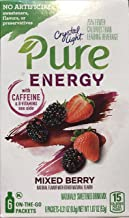 Crystal Light Pure Energy Mixed Berry Drink Mix, 6 On-the-Go Packets (Pack of 6)