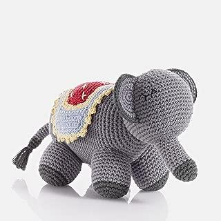 Pebble | Handmade Elephant Stuffed Animal—Grey | Crochet | Fair Trade | Pretend | Imaginative Play | Jungle | Circus | Kids Toy | Machine Washable