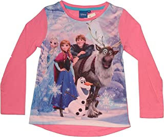 68e627123 Disney Frozen - Die Eiskönigin - Camiseta de Manga Larga - Para Niña Rosa 4  Años