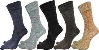 RC. ROYAL CLASS Women's Warm Woolen Calf Length Thumb Socks (Multicolour, Large)- Set of 5 Pairs