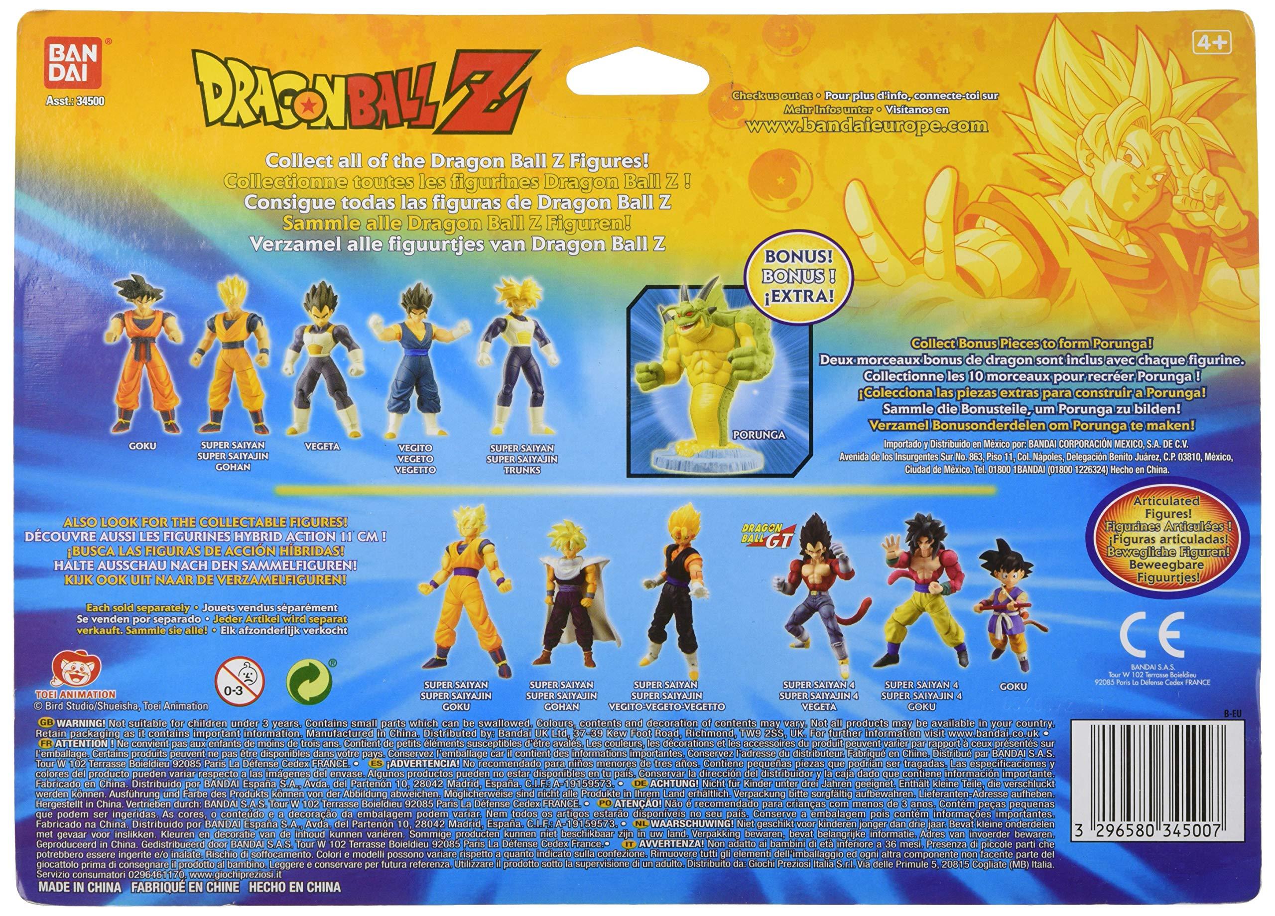 Bandai 34503 - Dragon Ball Z, pack de 5 figuras (héroes), modelos surtidos: Amazon.es: Juguetes y juegos