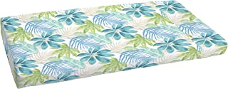 Mozaic AMCS115877 Indoor or Outdoor Bench Cushion, 19 x 48 x 3, Tropical Blue & Green