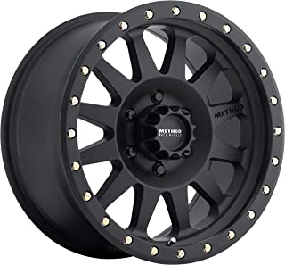 Method Race Wheels Double Standard Matte Black Wheel with Zinc Plated Accent Bolts (15x8