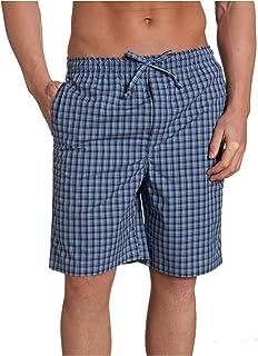 Nautica Sleepwear Men's Wayland Plaid Woven Sleep Short