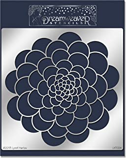 Stampedous Dreamweaver Metal Stencil Zen Flower