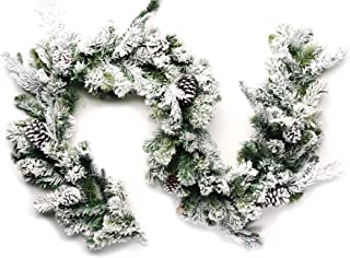 CraftMore Frosted Forest Pine Garland 6 Feet