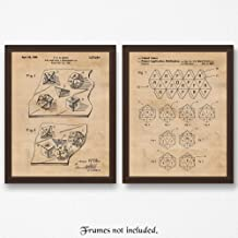 Original Dungeons and Dragons Dice Patent Poster Prints, Set of 2 (11x14) Unframed Photos, Wall Art Decor Gifts Under 15 for Home, Office, Man Cave, College Student, Teacher, Comic-Con & D&D Fan
