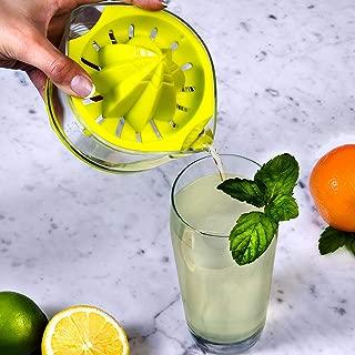 EZ Citrus Juicer - 8 oz. Handheld Manual Lemon Lime Juicer with ARK Reamer for Maximum Extraction - Top Rated Premium Design Manual Hand-Held Lime Juicer