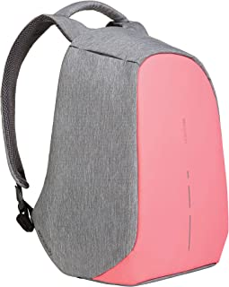 XD Design Bobby Compact Anti-Theft Laptop USB Backpack Pink (Unisex Bag)