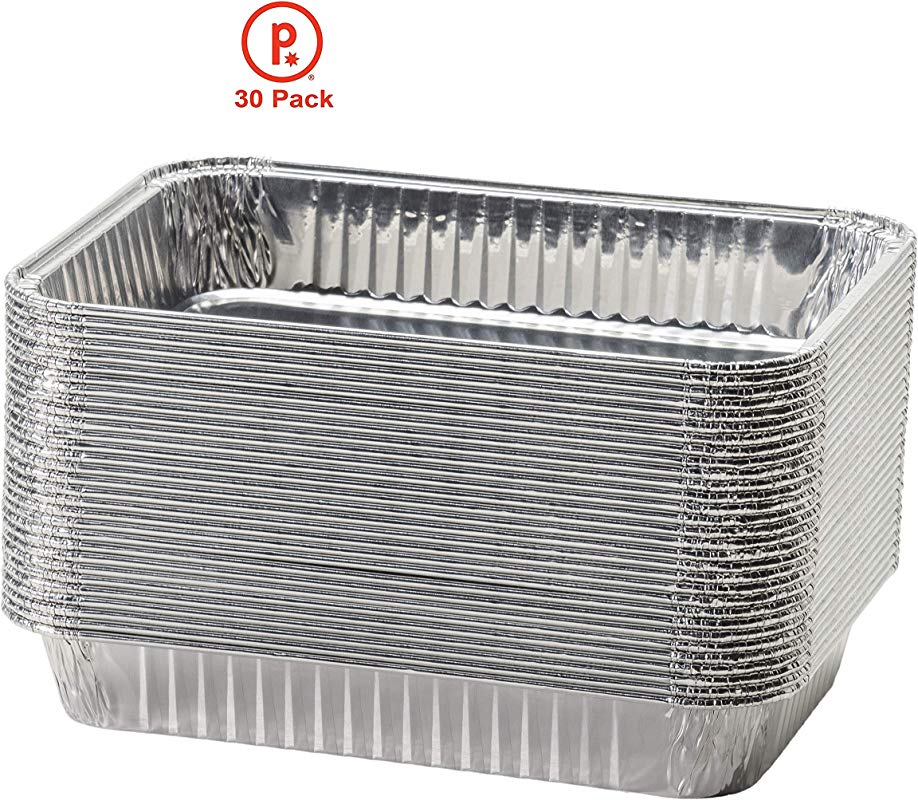Pinkada Aluminum Foil Drip Pans Disposable Aluminum Foil Bulk Package Of Durable Cooking Trays Disposable BBQ Grease Pans Great For Baking Roasting And Cooking 30
