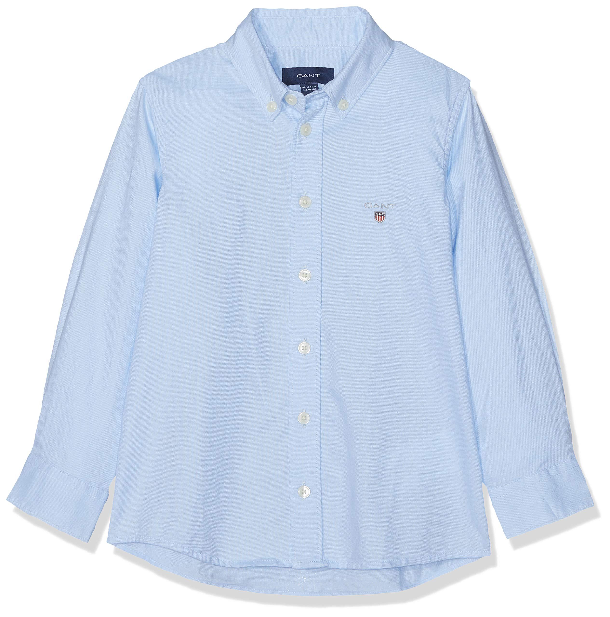 Boys' Shirt Long-Sleeved Light Blue 3 Years (98 cm)