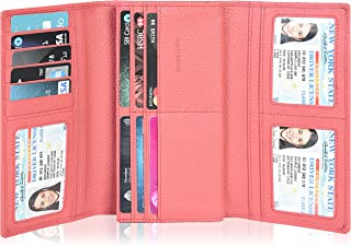 Leather Wallets For Women RFID Blocking Large Capacity Credit Card Clutch Purses