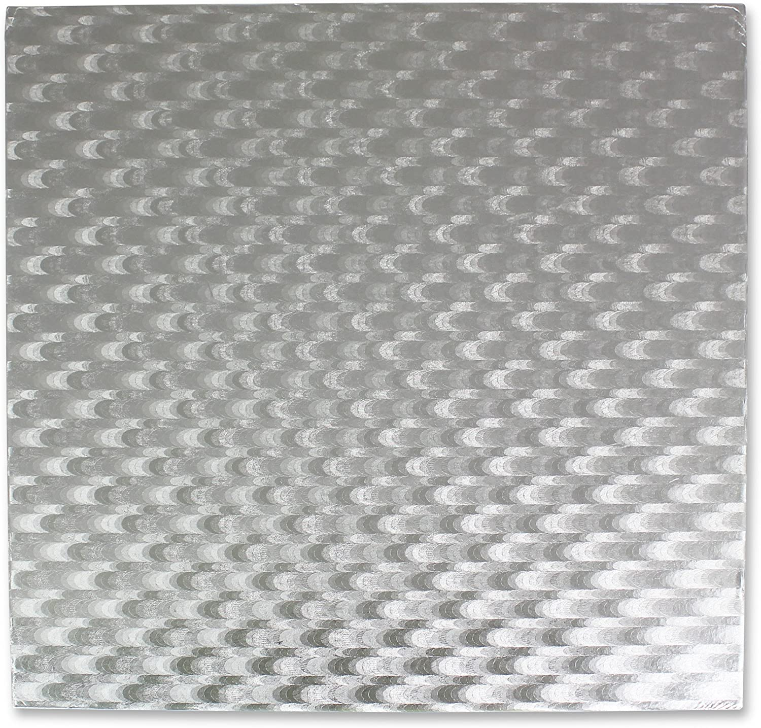 PME safety discount Square Cake Card 16-Inch Silver