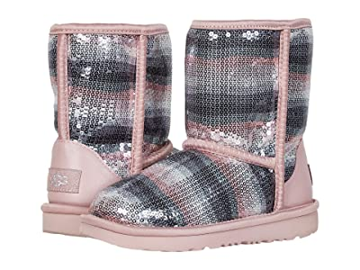 UGG Kids Classic II Sequin Rainbow (Little Kid/Big Kid) (Crystal Rainbow) Girl