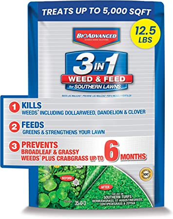 BIOADVANCED 704840B 3 in 1 Weed and Feed