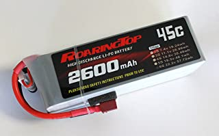 RoaringTop LiPo Battery Pack 45C 2600mAh 6S 22.2V with Deans Plug for RC Car Boat Truck Heli Airplane