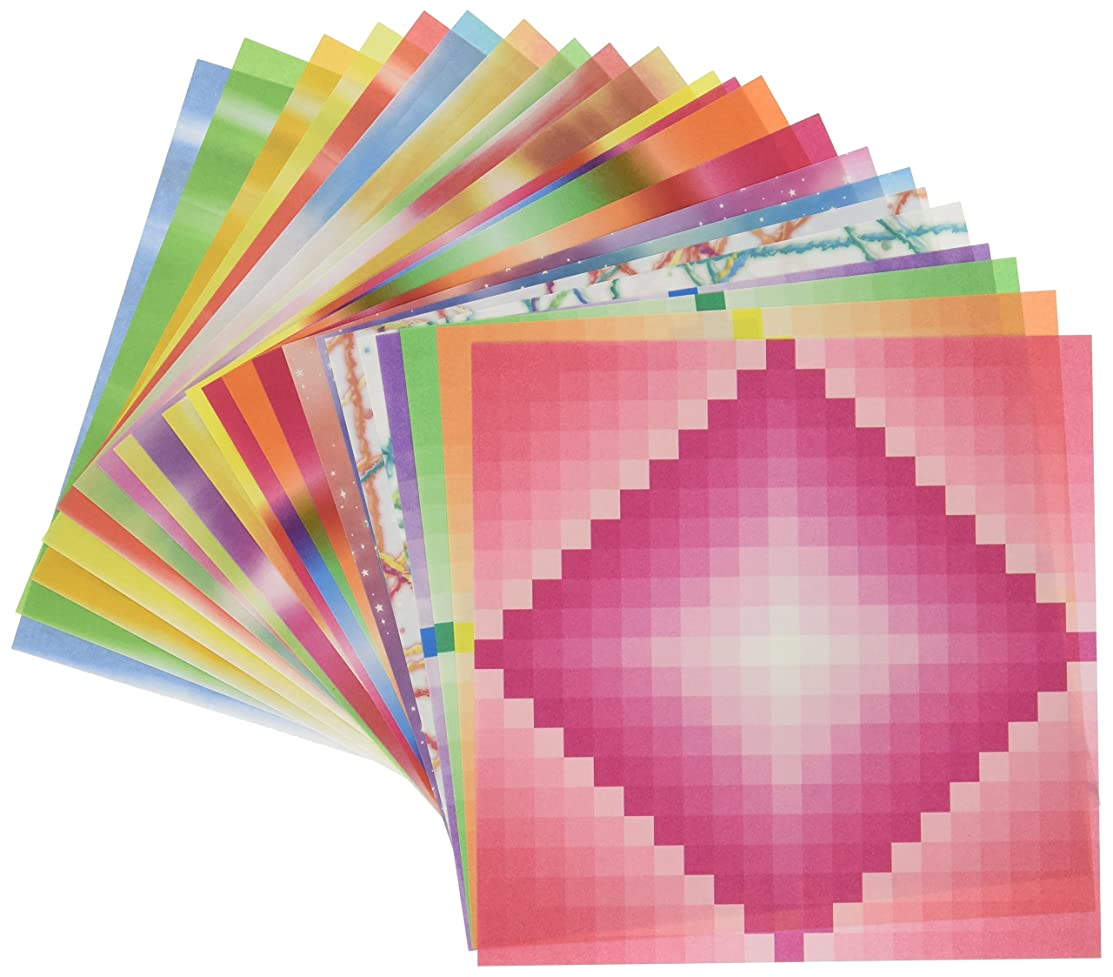 Aitoh 55-23 Origami Paper, Assorted Pattern and Color, 5-7/8
