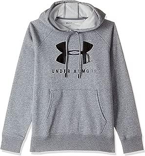 Under Armour Women's Rival Fleece Sportstyle Graphic Hoodie, Grey (Steel Medium Heather/Black), Large