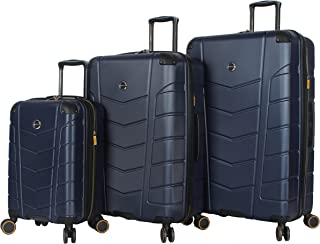 Luggage 3 Piece Rolling Suitcase Set Hard Case With Spinner Wheels (20