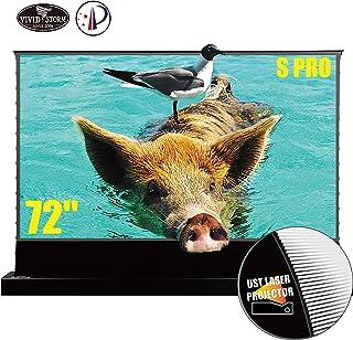 VIVIDSTORM S PRO Ultra Short Throw Laser Projector Screen, TV Home Theater Projector 8K/3D/UHD Black Housing Motorized Flo...