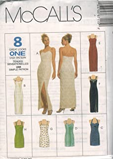 8711 McCalls Sewing Pattern Uncut Misses Semi Fitted Lined Dress Evening Gown Size 12 14 16
