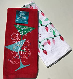 Let's Get Lit St. Nicholas Square Holiday Cheer 2-pc. Kitchen Towels