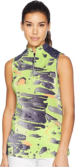 Meteorite Print Sleeveless Top