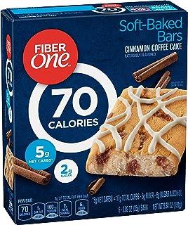 Fiber One Brownies, 70 Calories, 5 Net Carbs, Snacks, Cinnamon Coffee Cake, 6ct
