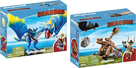 PLAYMOBIL. How to Train Your Dragon Gobber with Catapult Bundled Astrid & Stormfly