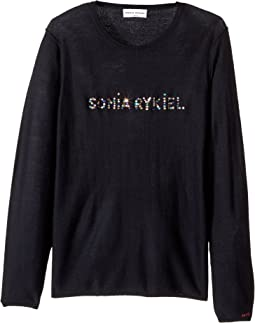 Sonia Rykiel Kids - Long Sleeve Sweater w/ Embellished Logo (Big Kids)