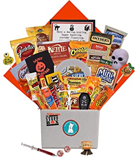 The Halloween 'Stuff' Box College Care Package with 35 Items