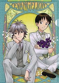 エヴァンゲリオン クリアファイル/A シンジ&カヲル(お花)
