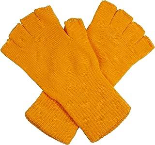 Unisex Warm Half Finger Stretchy Knit Gloves