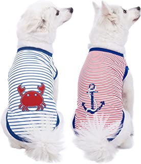 Blueberry Pet 2020 New 9 Designs Soft & Comfy Sea Lover Shirt - Cotton T-Shirt for Dogs or Kids