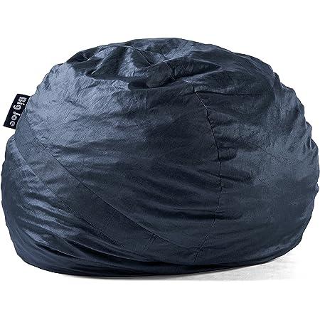 Big Joe Lenox Large Fuf Foam-Filled Bean Bag Chair, Removable Cover, Cobalt