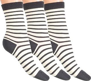 3 Pares de Nuestros Mejores Calcetines de Ejecutivo Lana de Merino de Ascona súper Suave para Mujer