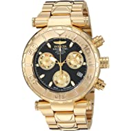 Men's Subaqua Quartz Watch with Stainless-Steel Strap, Gold, 0.8 (Model: 25800)