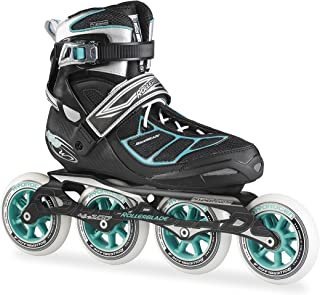 Rollerblade New 2015 Tempest W 100C Premium Fitness/Race Skate with 4x100mm Supreme Wheels - SG9 Bearings